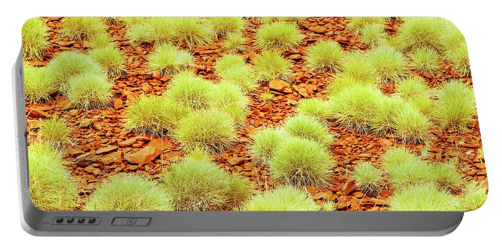 Newman Portable Battery Charger featuring the photograph Red Earth And Spinifex 2am-111716 by Andrew McInnes