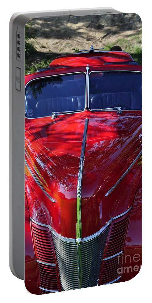 Clay Portable Battery Charger featuring the photograph Red Hot Rod by Clayton Bruster