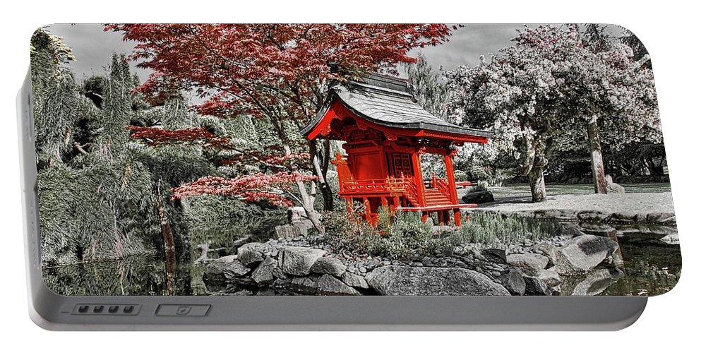 Nature Portable Battery Charger featuring the photograph Red House by David Coleman