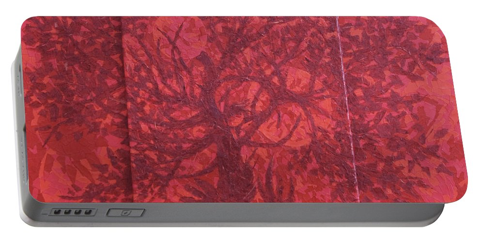 Red Portable Battery Charger featuring the painting Red Planet by Judy Henninger