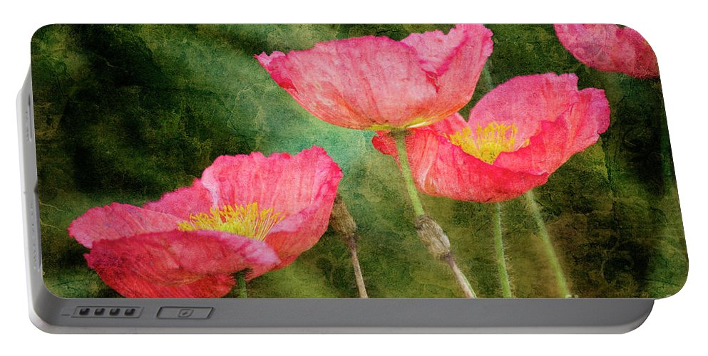 Red Portable Battery Charger featuring the photograph Red Poppies by Jim And Emily Bush