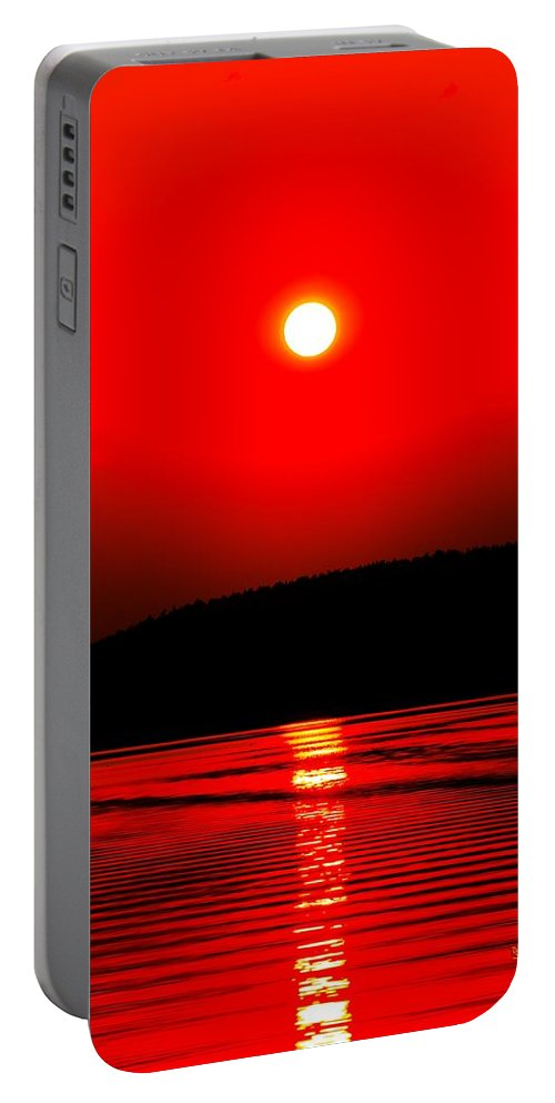 Emotion Portable Battery Charger featuring the photograph Red Power by Max Steinwald