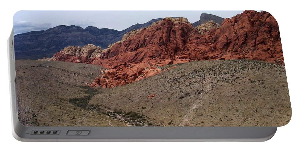 Red Rock Canyon Portable Battery Charger featuring the photograph Red Rock Canyon 1 by Anita Burgermeister