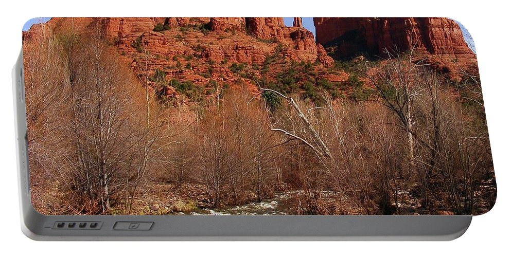 Red Rock Crossing Portable Battery Charger featuring the photograph Red Rock Crossing Sedona Arizona by Marilyn Smith