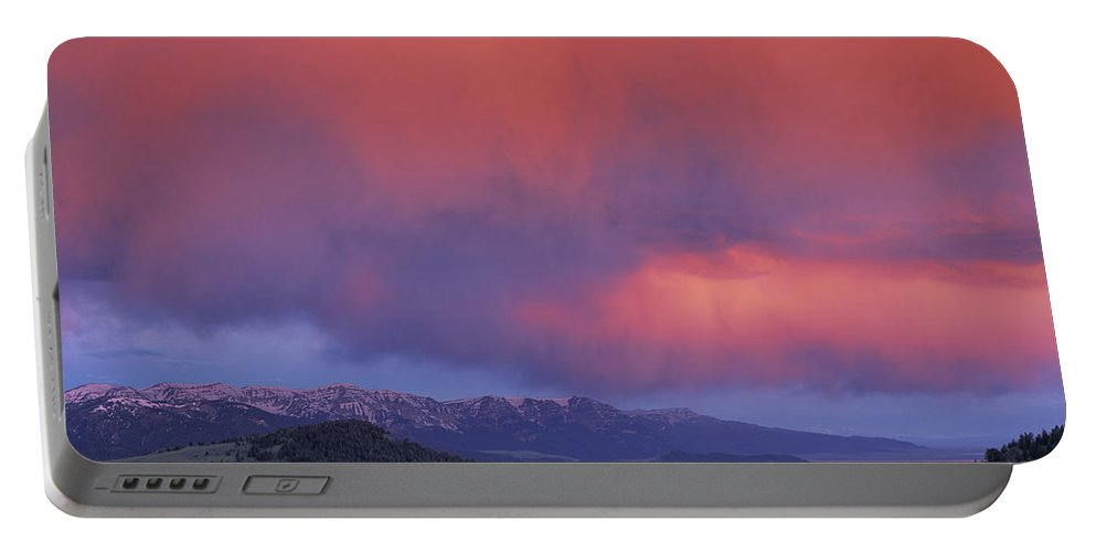 Sunset Portable Battery Charger featuring the photograph Red Rock Pass by Leland D Howard