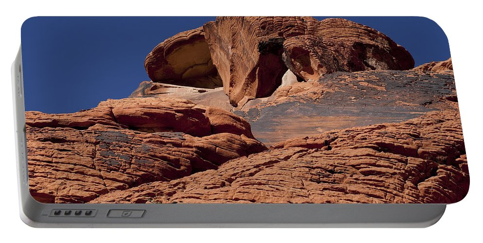 Rocks Portable Battery Charger featuring the photograph Red Rock Texture 2 by Kelley King