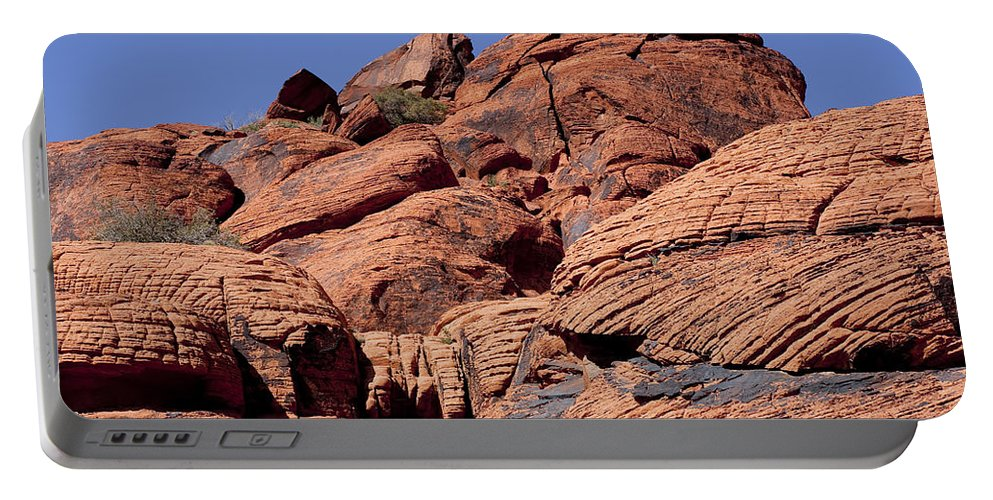 Rocks Portable Battery Charger featuring the photograph Red Rock Texture by Kelley King
