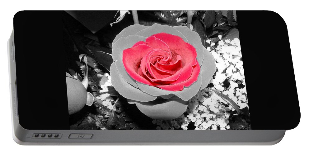 Rose Portable Battery Charger featuring the photograph Red Rose by DeeLon Merritt