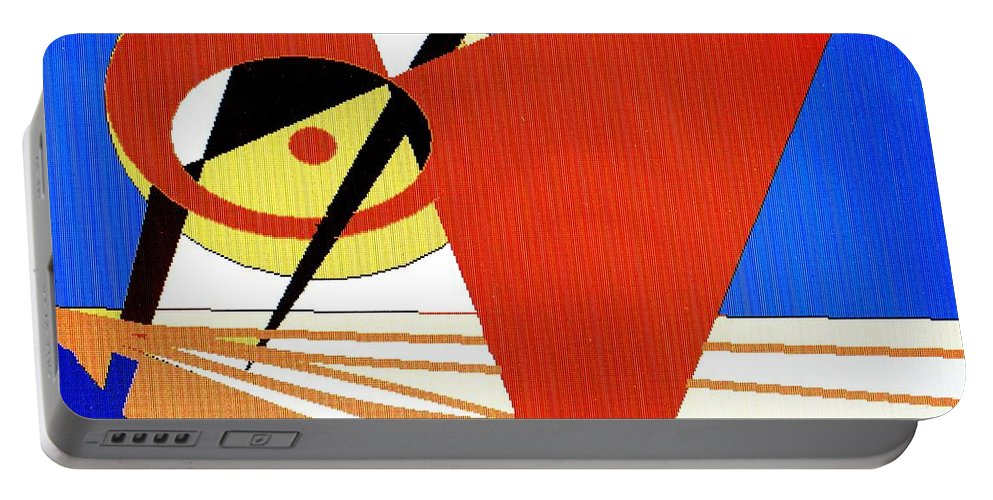Boat Portable Battery Charger featuring the digital art Red Sails In The Sunset by Ian MacDonald