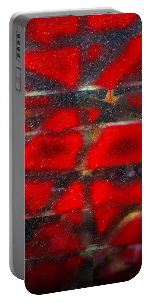 Skip Hunt Portable Battery Charger featuring the photograph Red Scare by Skip Hunt