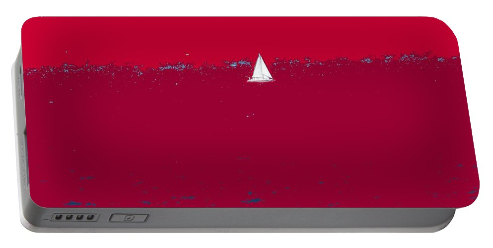 St Kitts Portable Battery Charger featuring the photograph Red Sea by Ian MacDonald