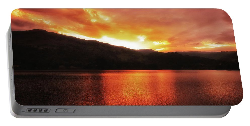 Red Portable Battery Charger featuring the photograph Red Sky At Night by Martin Newman