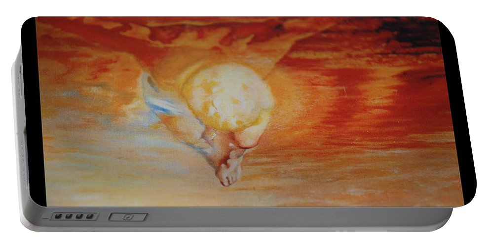 Angels Portable Battery Charger featuring the photograph Red Sky by Rob Hans