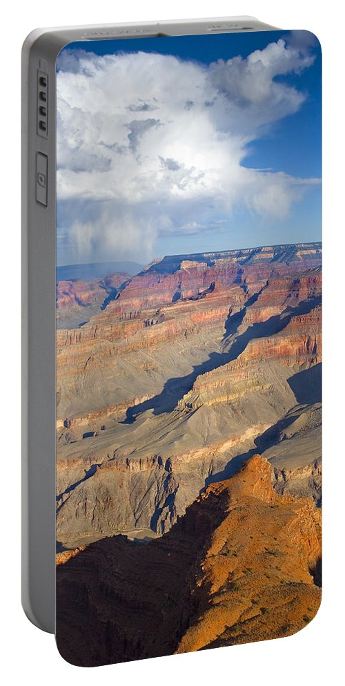 Grand Canyon Portable Battery Charger featuring the photograph Red Storm Rising by Mike Dawson