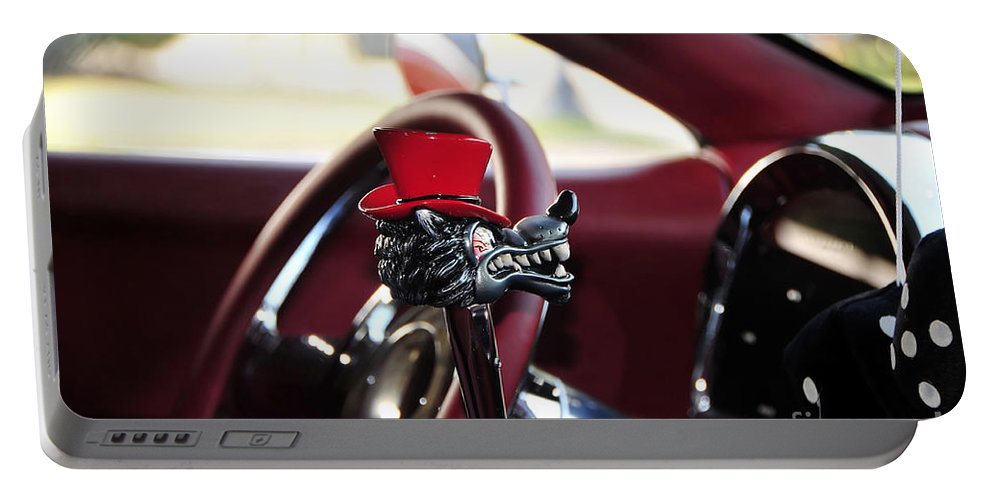 Top Hat Portable Battery Charger featuring the photograph Red Top Hat by David Lee Thompson