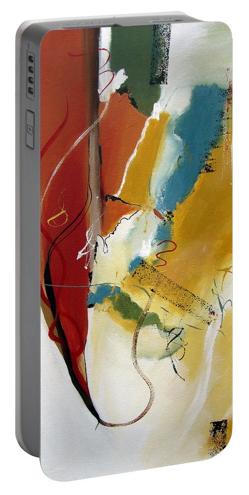 Christian Abstract Portable Battery Charger featuring the painting Redemption by Ruth Palmer