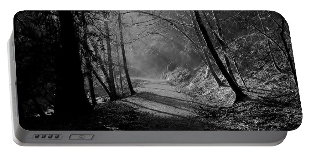 Reelig Glen Portable Battery Charger featuring the photograph Reelig Forest Walk by Gavin Macrae