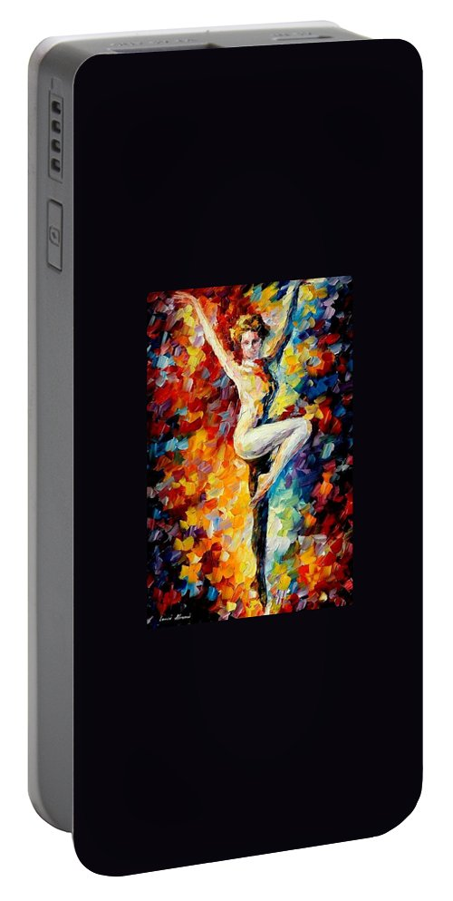 Painting Portable Battery Charger featuring the painting Refinement by Leonid Afremov