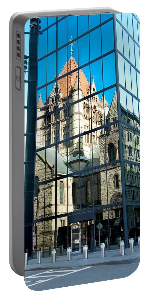 Boston Portable Battery Charger featuring the photograph Reflecting On Religion by Greg Fortier