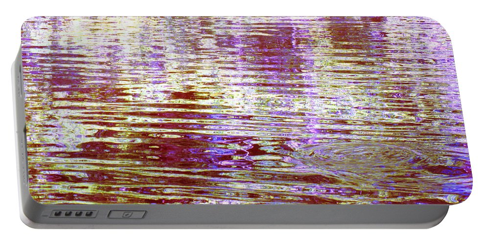 Water Portable Battery Charger featuring the photograph Reflecting Purple Water by Sybil Staples