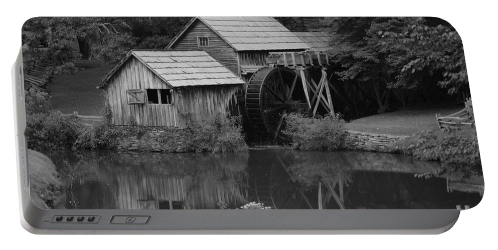 Mabry Mill Portable Battery Charger featuring the photograph Reflecting The Mill by Eric Liller