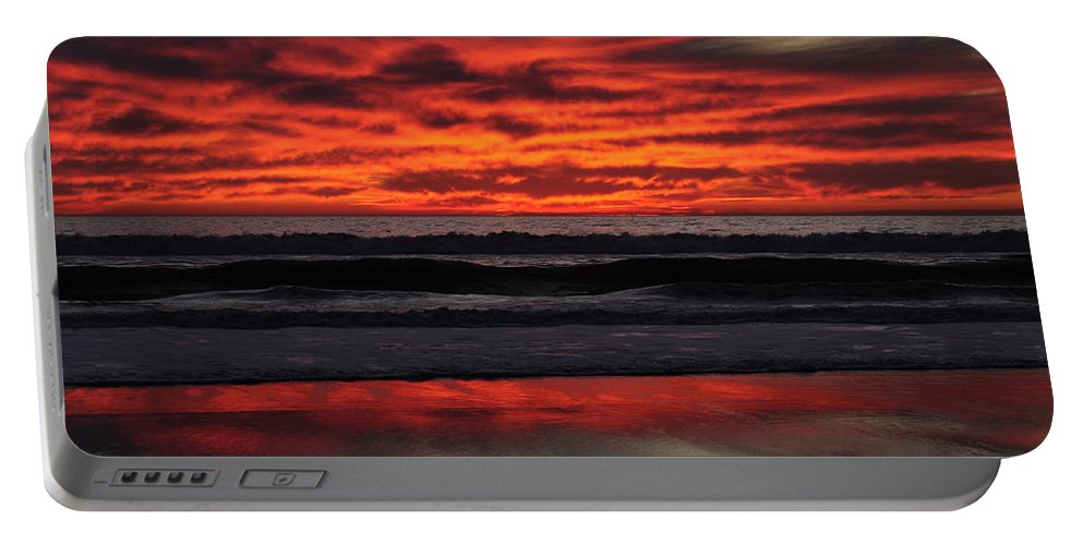 Sunset Portable Battery Charger featuring the photograph Reflection by Bridgette Gomes