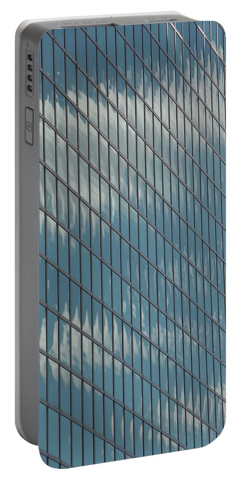 Photography Portable Battery Charger featuring the photograph Reflection Clouds On Building by Steven Natanson