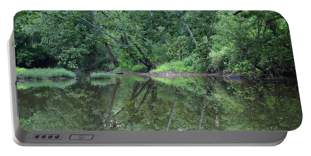 Water Portable Battery Charger featuring the photograph Reflection by Heidi Poulin
