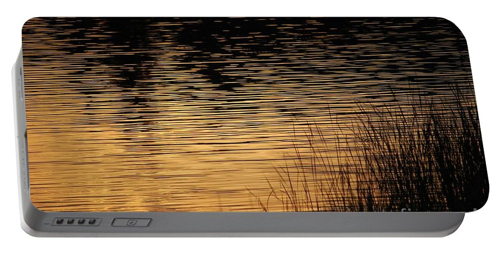 Digital Photo Portable Battery Charger featuring the photograph Reflection On A Sunset by David Lane