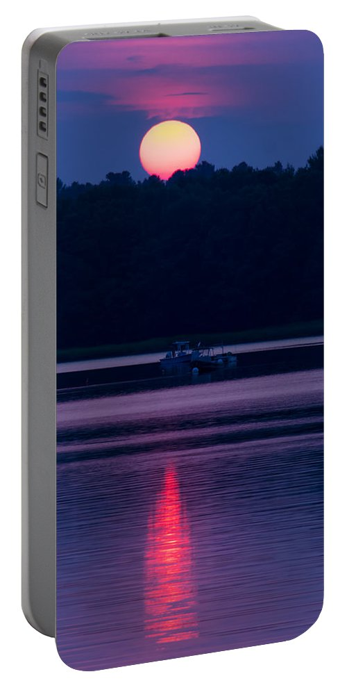 America Portable Battery Charger featuring the photograph Reflection On The Bay by Michael Goodin