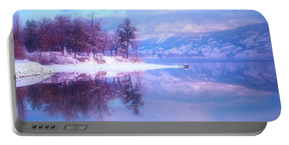 Reflections Portable Battery Charger featuring the photograph Reflections Along Highway 97 by Tara Turner