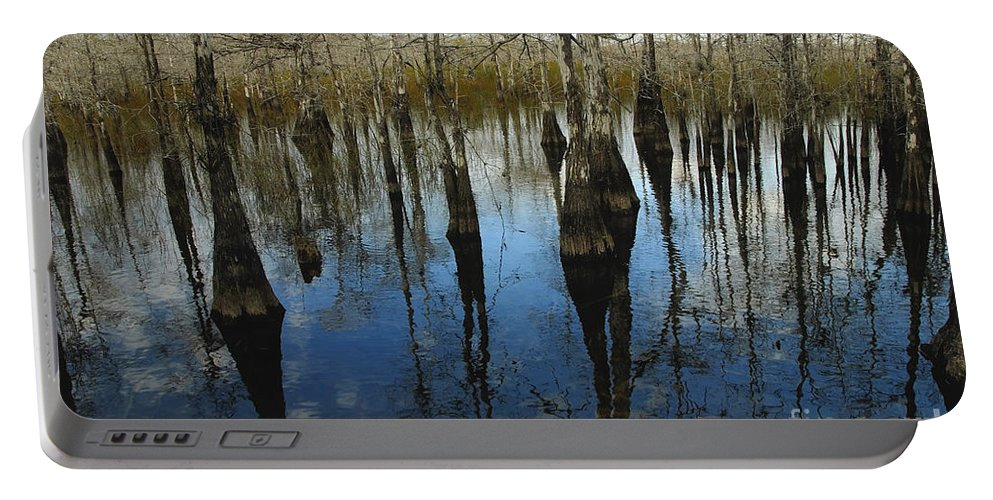 Bald Cypress Trees Portable Battery Charger featuring the photograph Reflections At Big Cypress by David Lee Thompson