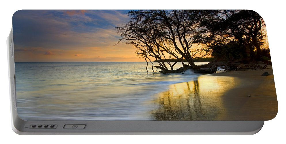 Waves Portable Battery Charger featuring the photograph Reflections Of Paradise by Mike Dawson
