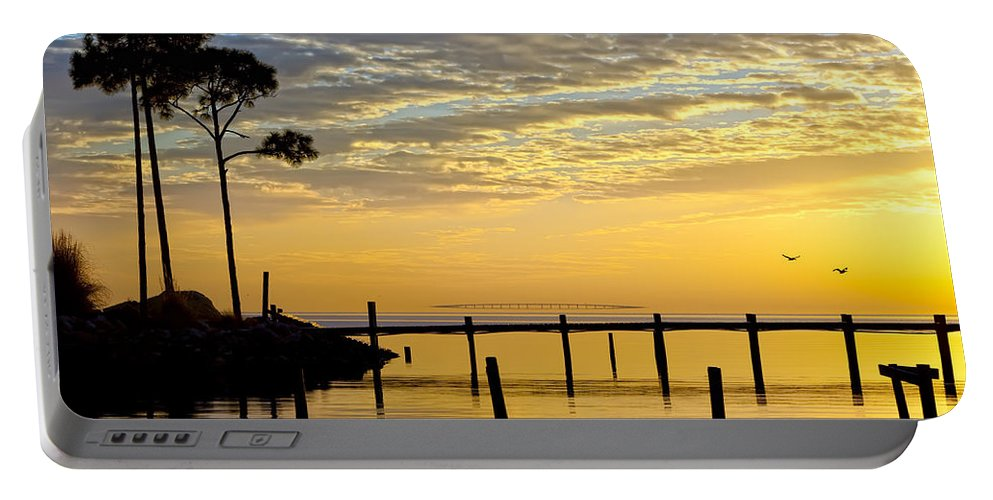 Sunrise Portable Battery Charger featuring the photograph Reflections Of You by Janet Fikar