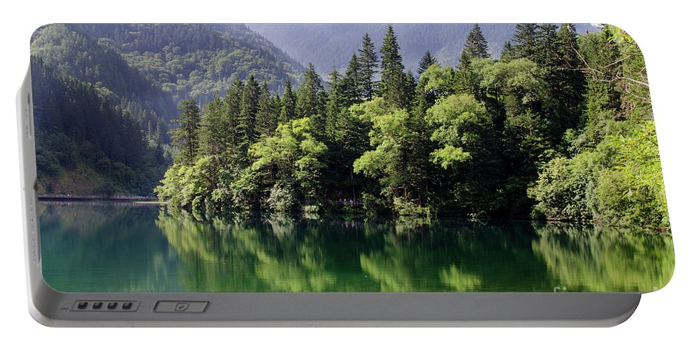 Arrow Portable Battery Charger featuring the photograph Reflections On Arrow Bamboo Lake by Paul Martin