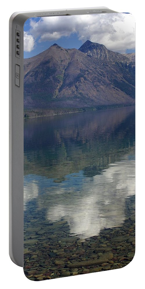 Lake Portable Battery Charger featuring the photograph Reflections On The Lake by Marty Koch