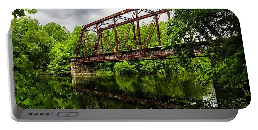 Murphy Nc. Portable Battery Charger featuring the photograph Reflections On The River by Lisa Bell