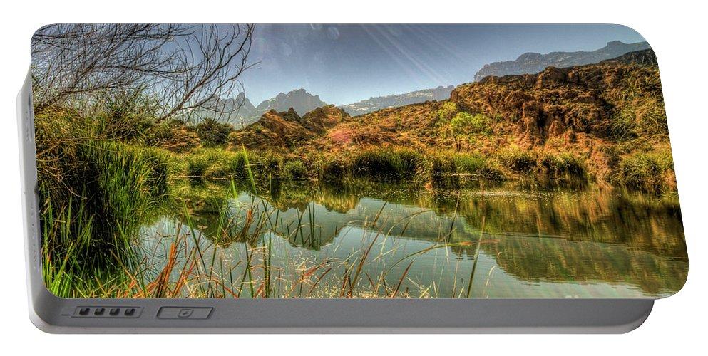 Arizona Portable Battery Charger featuring the photograph Reflections by Saija Lehtonen