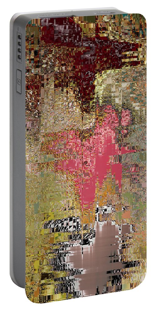 Reds Portable Battery Charger featuring the digital art Reflextions by Michael L McKinley
