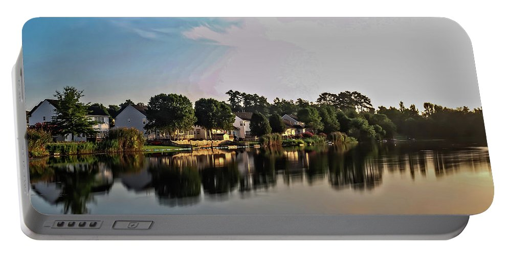 Landscape Portable Battery Charger featuring the photograph Reflissiones by Dan Zarate