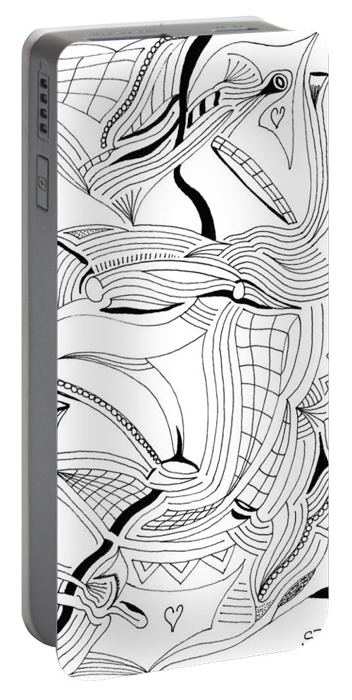 Mazes Portable Battery Charger featuring the drawing Reformation by Steven Natanson