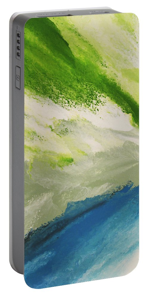 Water Portable Battery Charger featuring the painting Refresh by Linda Bailey