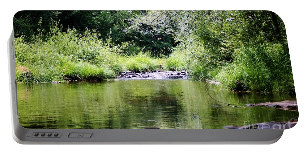 Landscape Portable Battery Charger featuring the photograph Refuge by Sheila Ping