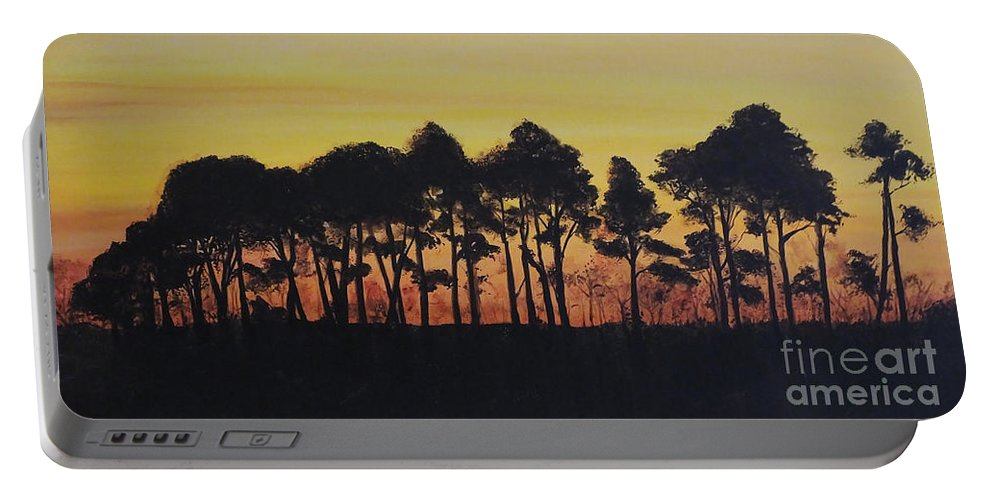 Painting Portable Battery Charger featuring the painting Refuge Sundown by Lizi Beard-Ward