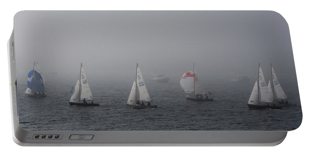 Boat Portable Battery Charger featuring the photograph Regatta by Steven Natanson