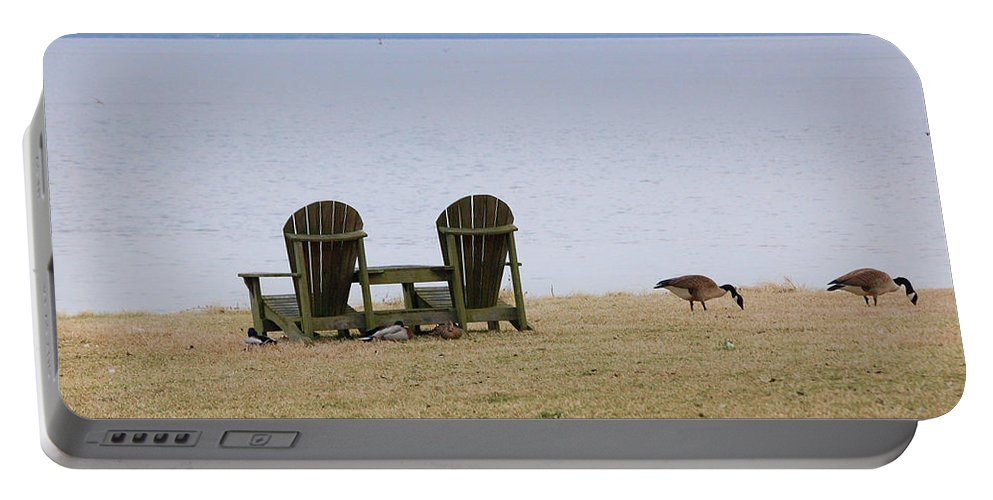 Chairs Portable Battery Charger featuring the photograph Relax by Debbi Granruth