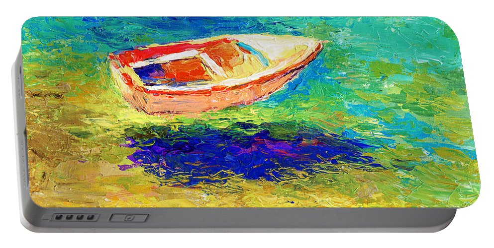 Boat Portable Battery Charger featuring the painting Relaxing Getaway by Svetlana Novikova