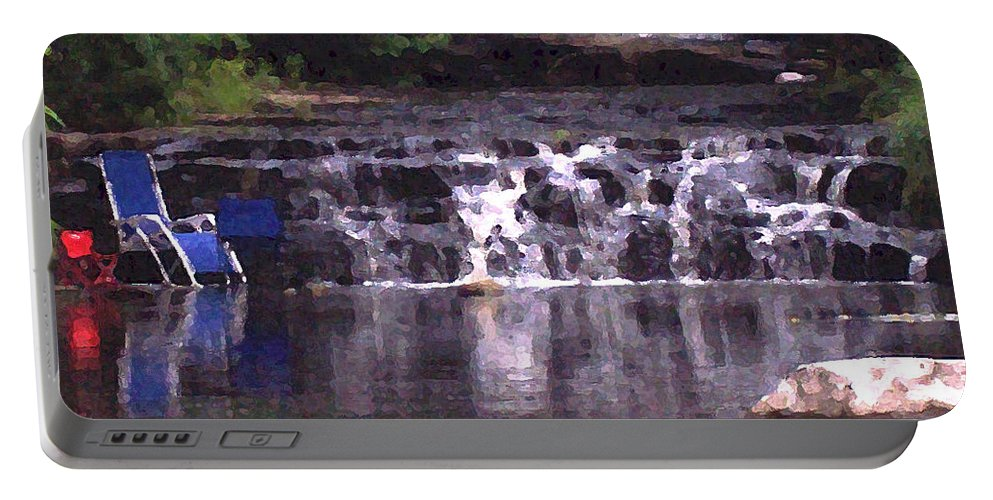 Landscape Portable Battery Charger featuring the photograph Relaxing In The Creek by Lisa Kane