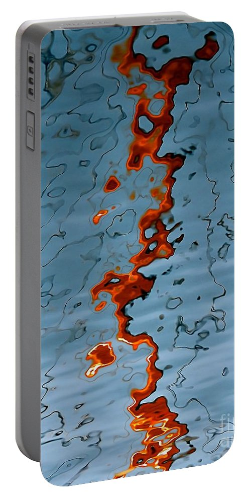 Abstract Portable Battery Charger featuring the photograph Release by Lauren Leigh Hunter Fine Art Photography