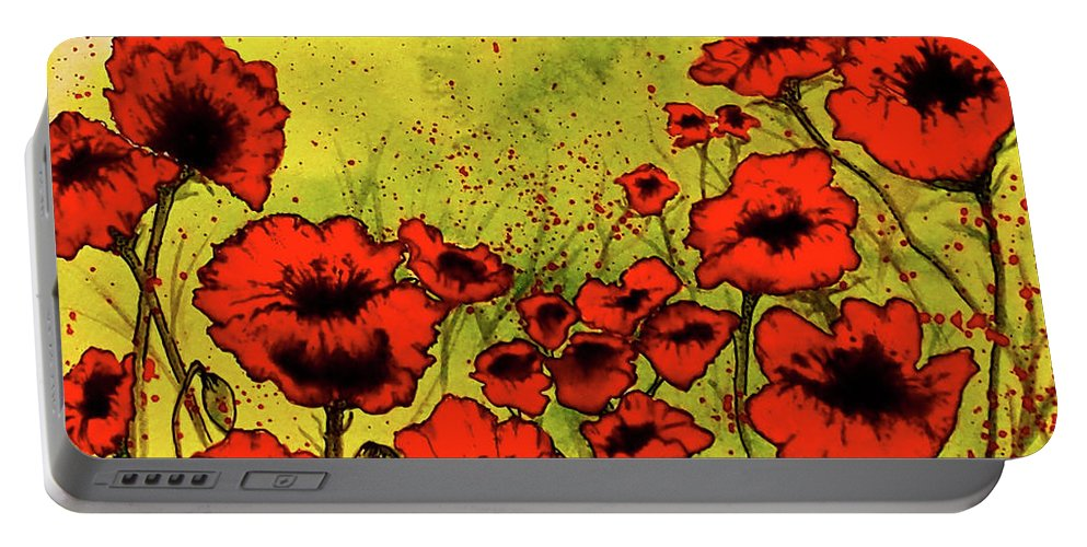Paintings Portable Battery Charger featuring the painting Remember Me by Emma Childs